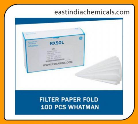 filter paper fold 100 pcs whatman east india chemicals